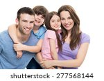young family with two kids  | Shutterstock . vector #277568144