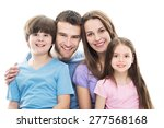 young family with two kids  | Shutterstock . vector #277568168