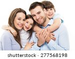 young family with two kids  | Shutterstock . vector #277568198