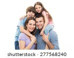 young family with two kids  | Shutterstock . vector #277568240