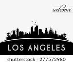 los angeles usa skyline... | Shutterstock .eps vector #277572980