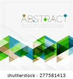 abstract geometric background.... | Shutterstock .eps vector #277581413