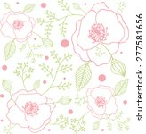 decorative floral background...   Shutterstock .eps vector #277581656