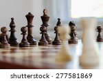 chess board with chess pieces... | Shutterstock . vector #277581869