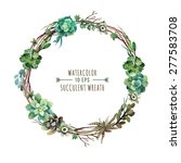 vector flower wreath of... | Shutterstock .eps vector #277583708