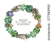 vector flower wreath of... | Shutterstock .eps vector #277583900
