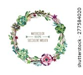 vector flower wreath of... | Shutterstock .eps vector #277584020