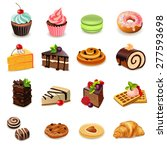 cakes and sweets decorative... | Shutterstock .eps vector #277593698