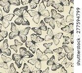 set of hand drawn butterflies....   Shutterstock .eps vector #277594799