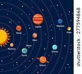 solar system with sun orbits... | Shutterstock .eps vector #277594868
