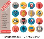 movie and film icons set. flat... | Shutterstock .eps vector #277598540