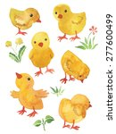 little funny chickens ... | Shutterstock . vector #277600499