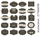set of vintage label old... | Shutterstock .eps vector #277606598