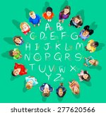 english alphabet letters number ... | Shutterstock . vector #277620566
