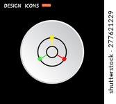the white circle on a black...