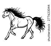 vector black and white running... | Shutterstock .eps vector #277623044