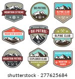 set of 9 vector high quality... | Shutterstock .eps vector #277625684