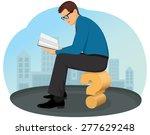 thoughtful businessman sitting... | Shutterstock .eps vector #277629248