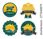 premium australia  beef labels  ... | Shutterstock .eps vector #277640879