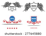 american labels vector... | Shutterstock .eps vector #277645880