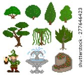 set of ten elements  garden...   Shutterstock .eps vector #277646423