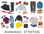 outfits of clothes and woman... | Shutterstock . vector #277647236