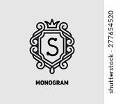 elegant monogram design... | Shutterstock .eps vector #277654520