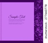 frame for text with elegant... | Shutterstock .eps vector #277660778