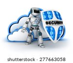 blue cloud security  done in 3d  | Shutterstock . vector #277663058
