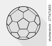 soccer flat icon with long... | Shutterstock .eps vector #277671833