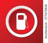 round white icon with gas...