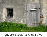 Wall Of An Old Farmhouse