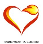 abstract fire flames icon with... | Shutterstock . vector #277680680