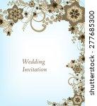 wedding invitation card.... | Shutterstock .eps vector #277685300