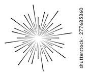 exploding fireworks logo vector ... | Shutterstock .eps vector #277685360