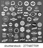 set of retro vintage labels ... | Shutterstock .eps vector #277687709