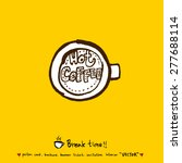 hand drawn cafe poster... | Shutterstock .eps vector #277688114