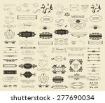 set of calligraphic elements... | Shutterstock .eps vector #277690034