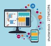 web design over blue background ...   Shutterstock .eps vector #277691396