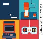 videogames design over colorful ... | Shutterstock .eps vector #277691414