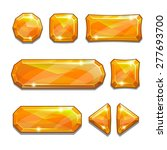 set of orange crystal buttons ...