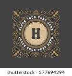 vintage logo template  hotel ... | Shutterstock .eps vector #277694294