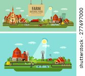 farm and city. set of elements  ... | Shutterstock .eps vector #277697000