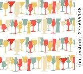 alcoholic glass silhouette... | Shutterstock .eps vector #277699148