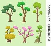 cartoon vector tree set | Shutterstock .eps vector #277700210