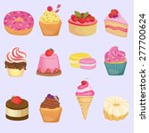 sweets image design set for... | Shutterstock .eps vector #277700624