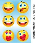 smilies | Shutterstock .eps vector #277701443