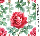 watercolor rose flowers... | Shutterstock . vector #277702613