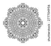 round ornament. ethnic mandala. ... | Shutterstock .eps vector #277704956