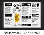 restaurant cafe menu  template... | Shutterstock .eps vector #277706960